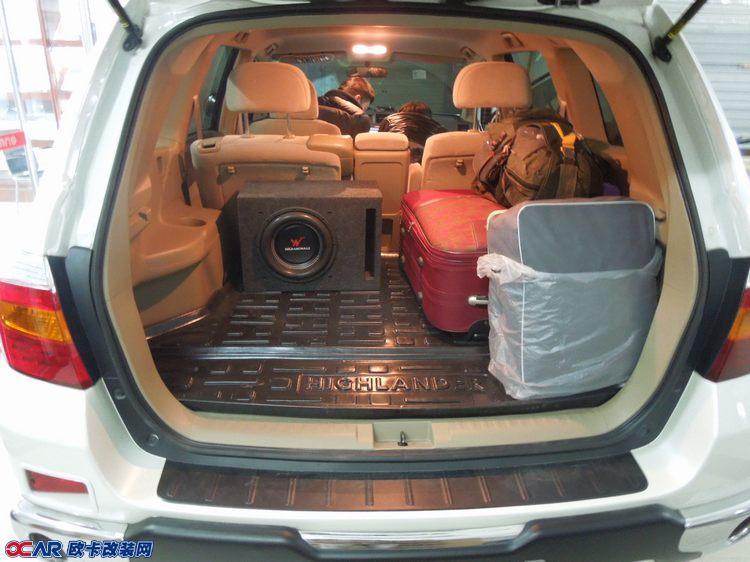 欧卡改装网,改装案例,丰田汉兰达音响改装与全车隔音