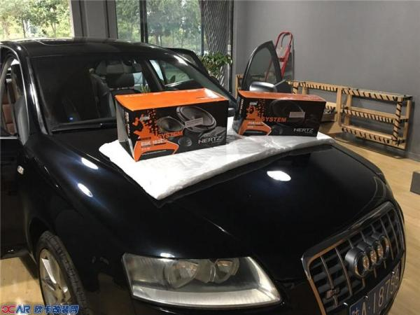 西安专业汽车音响改装 奥迪改装赫兹音响高清图片