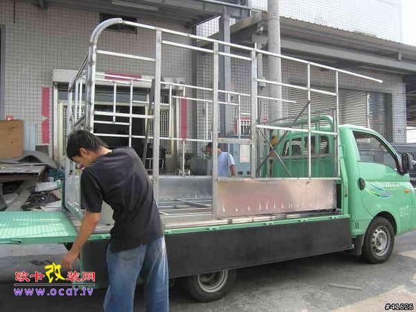 现代卡车改装承载式房车